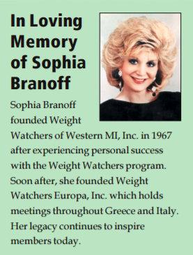 Sophia Branoff Weight Watchers, WW Europa Inc.